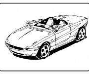 Coloring pages Chrysler cabriolet