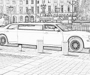 Coloring pages Chrysler Limousine