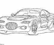 Coloring pages Chrysler Luxury car