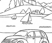 Coloring pages Chrysler Voyager