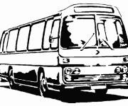 Coloring pages Black and white bus online