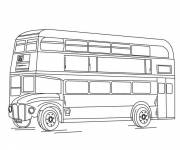 Coloring pages Bus in england