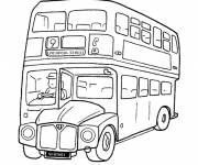 Coloring pages Bus in London