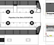 Coloring pages Bus to cut and assemble