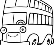 Coloring pages Bus with eyes