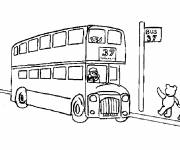 Coloring pages Children's bus