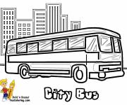 Coloring pages City Bus