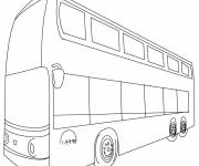 Coloring pages Color english bus