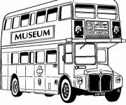 Coloring pages Double decker bus