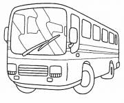 Coloring pages Easy maternal bus