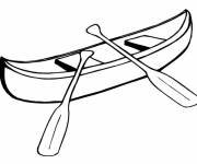Coloring pages A maternal canoe