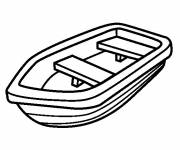 Coloring pages Black and white canoe