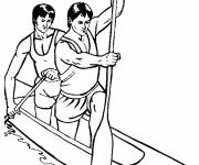 Coloring pages Canoe Athletics