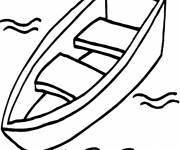 Coloring pages Canoe in the water