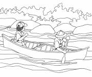 Coloring pages Canoe to relax
