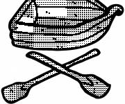 Coloring pages Colored canoe