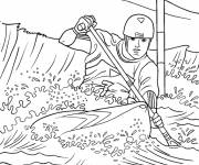 Coloring pages Kayaking