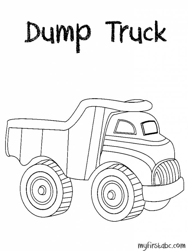 Free coloring and drawings A Berliet trailer truck Coloring page