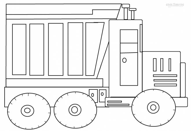 Free coloring and drawings A coloring truck Coloring page
