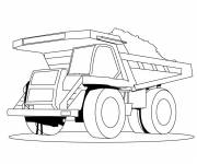 Coloring pages A giant dump truck