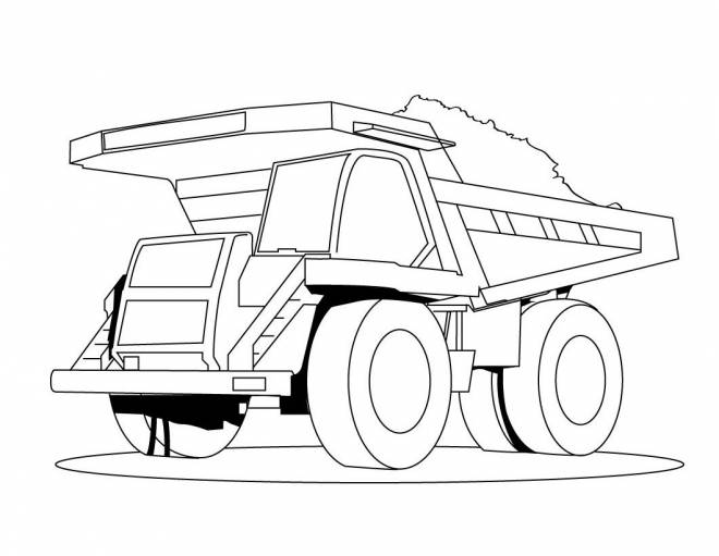 Free coloring and drawings A giant dump truck Coloring page