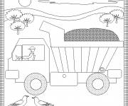 Free coloring and drawings Children's Tipper Truck Coloring page