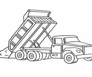 Free coloring and drawings Construction Tipper Truck Coloring page