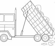 Free coloring and drawings Dump Truck for Coloring Coloring page