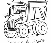 Free coloring and drawings Dump truck to color Coloring page