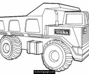 Coloring pages Easy Tonka truck