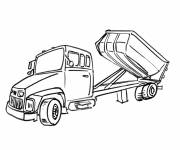 Free coloring and drawings Semi trailer truck Coloring page