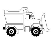 Free coloring and drawings Single Tipper Truck Coloring page