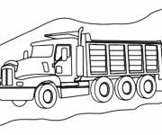 Free coloring and drawings The Berliet Truck Coloring page