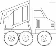 Coloring pages The Tipper Truck to download
