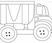 Coloring pages Tipper truck for children