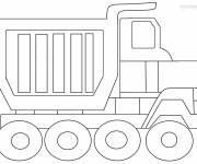 Free coloring and drawings Tipper truck for decoration Coloring page