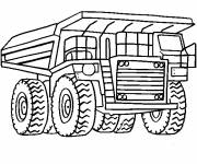 Free coloring and drawings Tonka gravel truck Coloring page