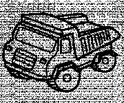 Free coloring and drawings Vector Tipper Truck Coloring page
