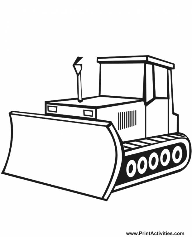 Free coloring and drawings A vector bulldozer Coloring page
