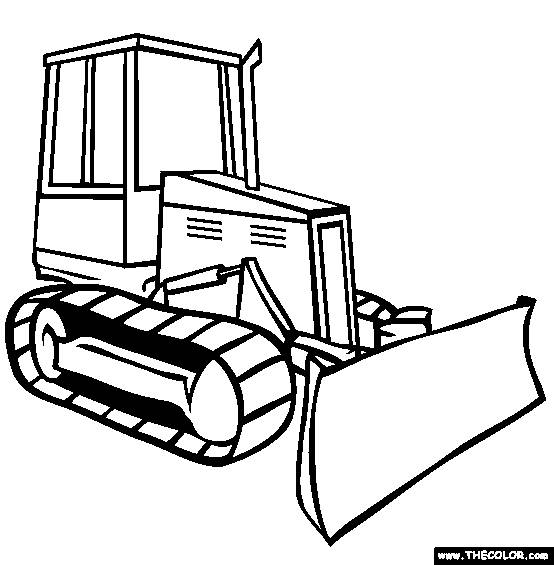Free coloring and drawings Backhoe Coloring page