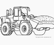 Free coloring and drawings Backhoe Loader Loads Sand Coloring page