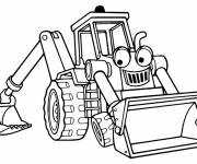 Free coloring and drawings Cartoon mechanical shovel Coloring page