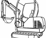 Free coloring and drawings Color backhoe loader Coloring page