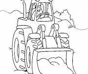Free coloring and drawings Easy construction machine Coloring page