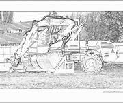 Coloring pages Realistic construction machine
