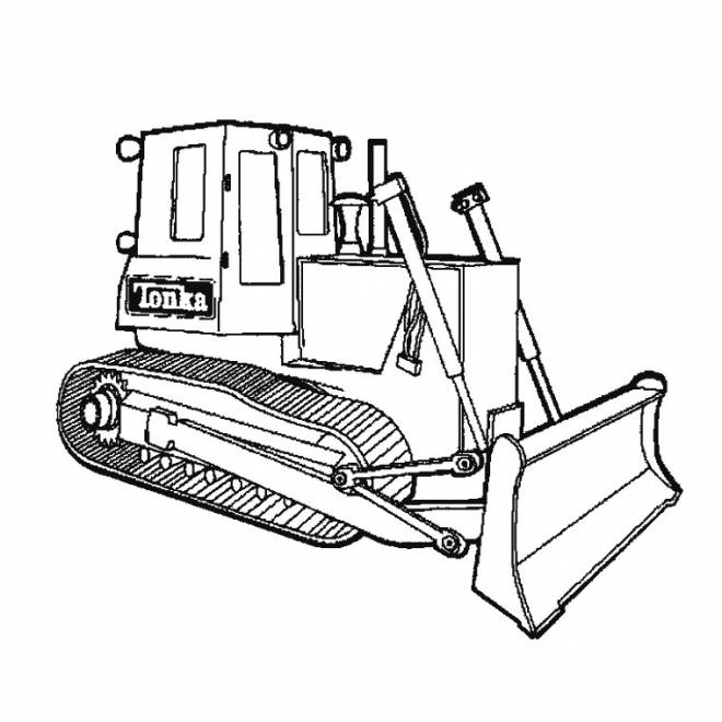 Free coloring and drawings Tonka Bulldozer to be colored Coloring page