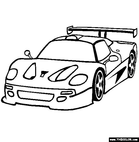Free coloring and drawings Automobile Ferrari model F40 Coloring page