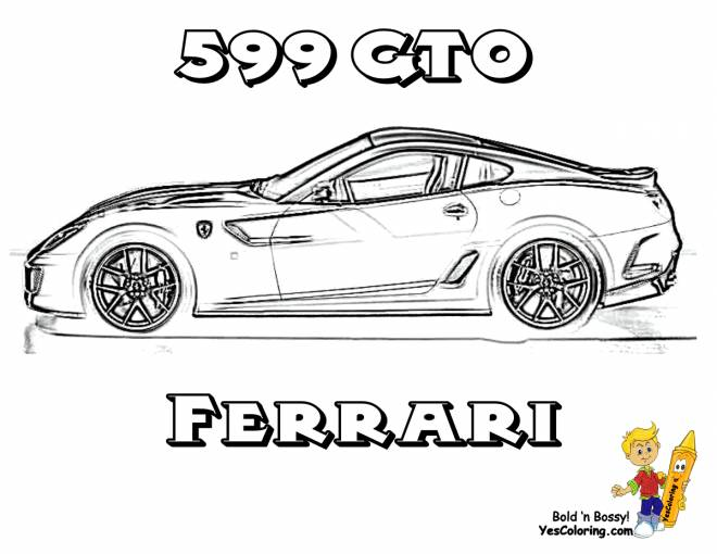 Free coloring and drawings Car Ferrari 599 GTO Coloring page