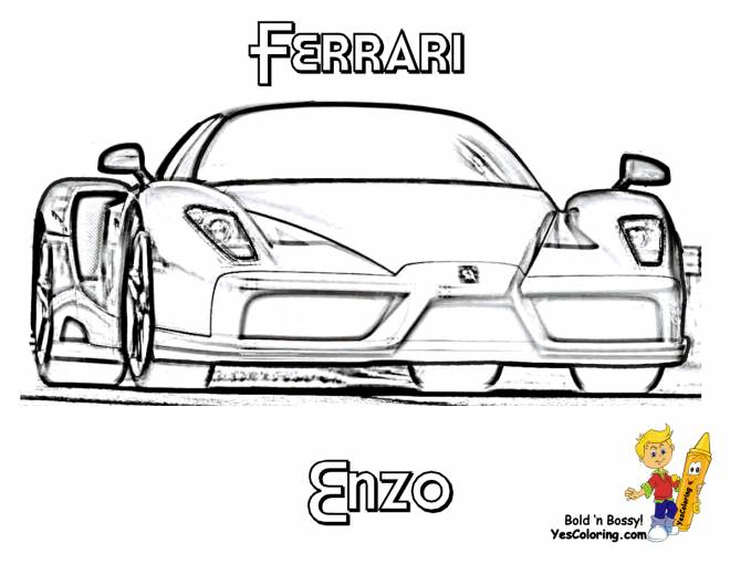 Free coloring and drawings Car Ferrari Enzo Coloring page