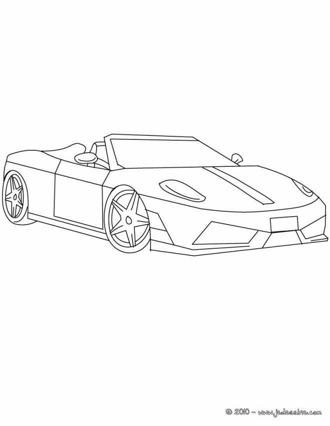 Free coloring and drawings Convertible ferrari Coloring page